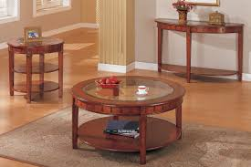 coffee table and matching end console round oak veneer glass top tables canada 0001673 coffee