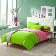pink green comforter sets lime and solid pure color simply shabby chic girls 3 bedspreads comforters