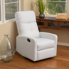 amazoncom teyana white leather recliner club chair kitchen  dining