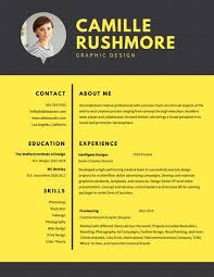 Graphic Designer Resume Fresh Yellow Grid Graphic Design Resume ...