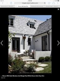 Stucco Trim Designs Light Gray Stucco Shingles Black Trim Exterior Paint