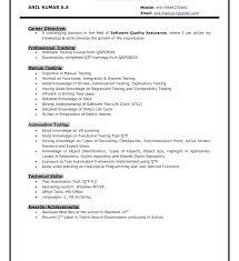 Software Testing Sample Resume Download Manual Test Engineer Sample