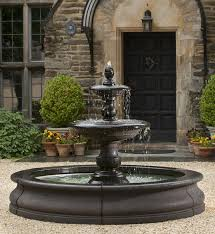 Beautiful mediterranean patio designs that will replenish your energy Pergolas Caterina Outdoor Water Fountain In Basin Soothingwalls Nh Hotel Large Outdoor Fountains Free Shipping On All Big Water Features