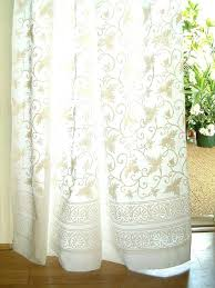 tab top sheer curtains ivy lace white country cottage cotton curtain panel semi