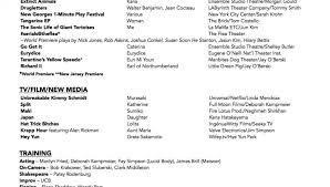 Resume Accent Interesting Josh Hudson Final Theater Resume With Accent Template Accenture