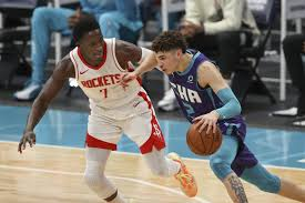 Find gifs with the latest and newest hashtags! Ball S 3 Point Shooting Lifts Hornets Past Rockets 119 94 Wnct