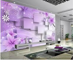 home decor living room natural art purple warm flowers tv wall