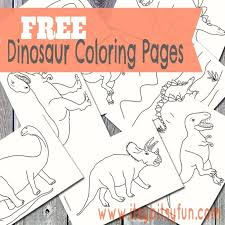 Kids often love to spend hours playing with their dinosaur toys. Dinosaur Coloring Pages Itsybitsyfun Com