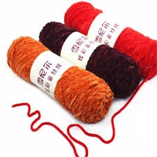 10pcs Velvet Yarn Crochet Texturized <b>Polyester</b> Blended <b>Cotton</b> ...