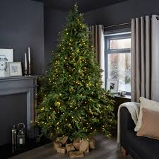 ... Dazzling Bq Pre Lit Christmas Trees Luxurious And Splendid 7ft 6In  Thetford Tree Departments DIY At