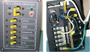 shore power upgrade sail magazine this older model ac distribution panel has a polarity tester and an integral 30 amp