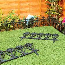 garden edging lawn flowerbed border fence ornate victorian style
