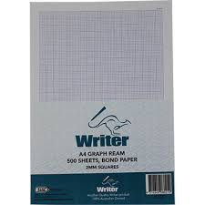 Writer Ream A4 Graph Paper 2mm Portrait 500 Sheets Office National