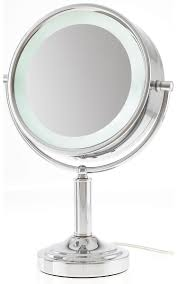 15x 1x led lighted extreme magnification reversible makeup mirror