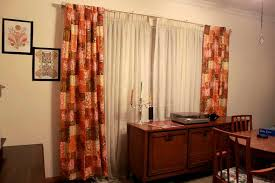 Doors & Windows:Double Mid Century Modern Drapes Mid Century Modern Drapes