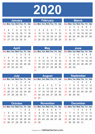 Editable 2015 2020 Calendar 210 2020 Calendar Vectors Download Free Vector Art