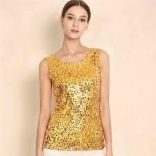 Women <b>Sequins</b> Vest Sling Blouse Shirts <b>Sequin Plus Size S 3XL</b> ...