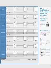 Free Blood Pressure Chart Online Free Blood Pressure Log Templates And Tracker Sheets