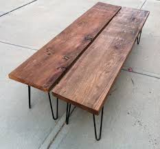 rustic wood bench. Plain Bench Rustic Modern Wood Bench By Tyler Kingston Co  Modern Benches  Etsy Inside L