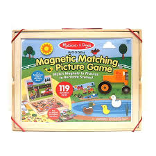 Melissa And Doug Wooden Games Custom Melissa Doug Wooden Magnetic Matching Picture Game With 32