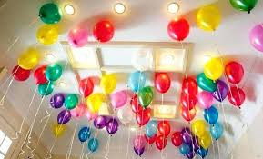 balloon decoration ideas for first birthday simple party at home