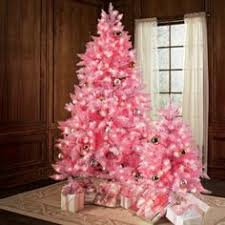 Grouping of pink trees