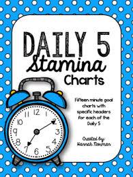 Daily 5 Anchor Charts 2nd Grade Daily 5 Stamina Charts