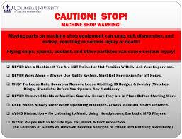 mechanical equipments list machine shop safety rules carleton laboratory website