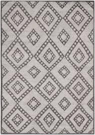 rugsville moroccan beni ourain double diamond wool charcoal rug 37012