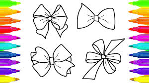 Small Picture Bows Coloring Pages and Drawing Art Videos for Children and