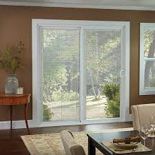 series gliding patio door with blinds