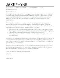 Cover Letter Retail Cover Letter Retail Template Sales Environment