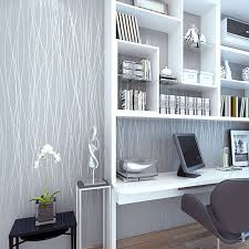 grey wallpaper living room. non woven fashion thin flocking vertical stripes wallpaper for living room sofa background walls home 3d grey silver-in wallpapers from