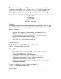 Lvn Resumes Resume For Your Job Application