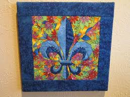 22 best Items for Sale at Quilting Miss Daisy on etsy images on ... & Items similar to Fleur de Lis Quilted Wallhanging Embellished with Beads,  Blues and Floral on Etsy Adamdwight.com