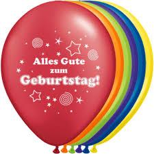 luftballons geburts alles gute zum