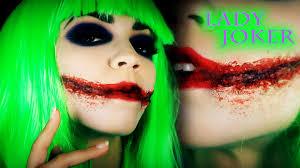 joker makeup tutorial female joker lady joker dark knight version you