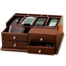 handheld electronics organizer drawers desktop charging station