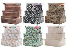 Decorative Cardboard Storage Boxes With Lids Decorative Cardboard Boxes eBay 9