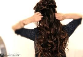 Flower Hair Style spring flower braid halfup halfdown hairstyle tutorial video 4190 by wearticles.com