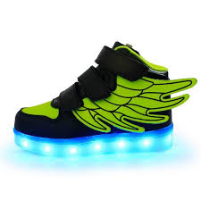 creative kids shoes led lights wings shoes usb charging light up s boys changing flashing lights sneakers boys sneakers boys sports trainers from
