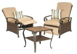 lazy boy outdoor furniture la z boy outdoor two patio recliners and side table la z
