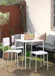 ikea outdoor furniture uk. Ikea Falster Table A Sunny Backyard With White Two Chairs And  Stool . Grey Outdoor Furniture Uk O