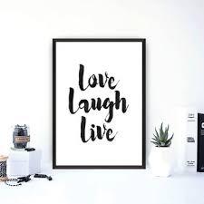 love live life wall art