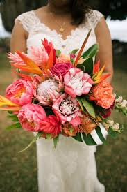 Maui Floral Design Colorful Tropical Bridal Bouquet By Maui Elegance Floral