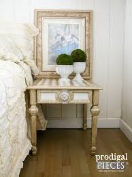 painted furniture makeover gold metallic. Vintage Mersman Side Table Makeover With Americana Decor Metallics Paint By Prodigal Pieces | Www. Painted Furniture Gold Metallic E