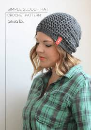 Crochet Patterns Hats Stunning Simple Slouchy Crochet Hat Pattern for Beginners