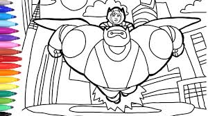 Big Hero 6 Coloring Pages For Kids How To Draw Big Hero 6 Hero And