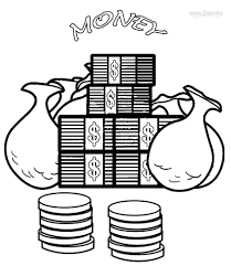 Marvelous Design Ideas Money Coloring Sheets Printable Pages For