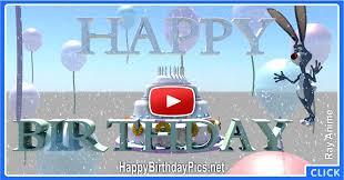 Happy Birthday Cake 3d Animation With A Bunny Happy Birthday